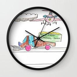 Runway Cleanup Wall Clock
