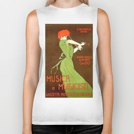 Vintage poster - Musica e Musicisti Biker Tank