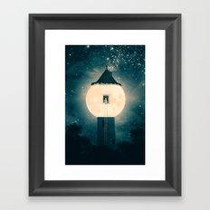 The Moon Tower Framed Art Print
