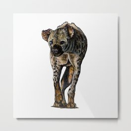 ONE-EYED SPOTTED HYENA Metal Print