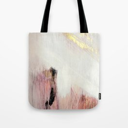Sunrise [2]: a bright, colorful abstract piece in pink, gold, black,and white Umhängetasche