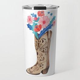 Flower boots Travel Mug