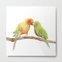 Parakeet - Friendship Metal Print
