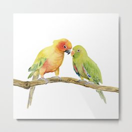 Parakeet - Friendship Metal Print
