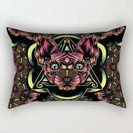 Sphynx floral color Rectangular Pillow