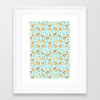 puppies Framed Art Prints featuring Puppies! by Cuppy Cup Jrs.
