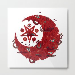 The Blood Moon Compels You to Fuck Shit Up Metal Print