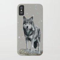 dota iPhone & iPod Cases featuring SNOW WOLF by Monika Strigel