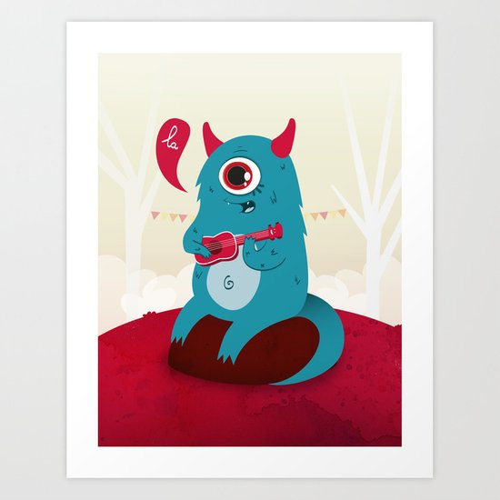 The singing Monster Art Print