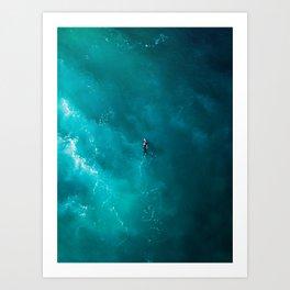 Surfing Alone Art Print
