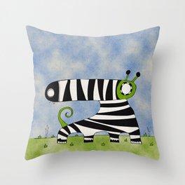 Green Mummynimal Throw Pillow