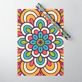 Mandala, Colorful Abstract Flower Wrapping Paper
