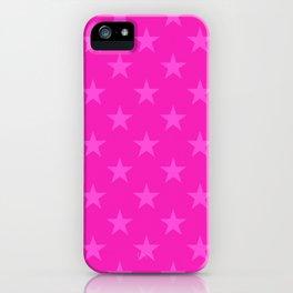 Pink stars pattern iPhone Case