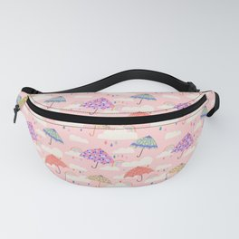 Rainy Day on Pink Fanny Pack