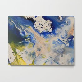 Liquid Colour Splashes Metal Print