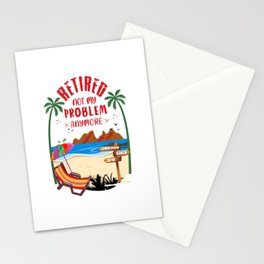 retired pension resigned holidays free since 2018 Stationery Cards
