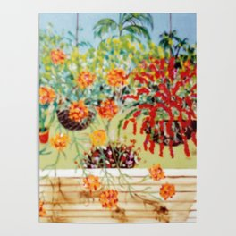 Tony's Hanging Baskets Poster