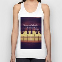 mozart Tank Tops featuring Mozart Music by KimberosePhotography