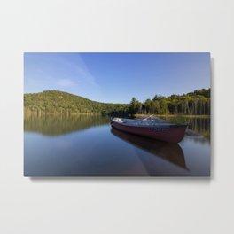 Canoe Photography, Lake Photography, Nature Landscape Print Metal Print