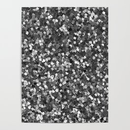 Dazzling Sparkles (Black and White) Poster