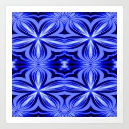 Electric Blue Pattern Art Print