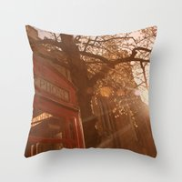 telephone Throw Pillows featuring Telephone. by Beth Retro