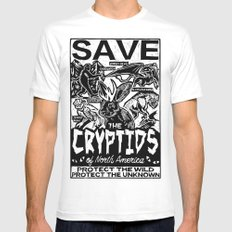 SAVE THE CRYPTIDS X-LARGE Mens Fitted Tee White