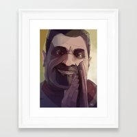 borderlands Framed Art Prints featuring Borderlands - Marcus by BEN Olive