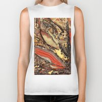 minerals Biker Tanks featuring Colorful Gemstone I by Kristiana Art Prints