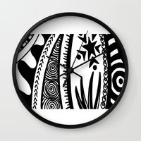 zentangle Wall Clocks featuring Zentangle by Wealie