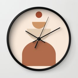 abstract series two (sand) Wall Clock