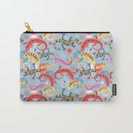 Vector graphic beautiful pattern of colored Salamander Carry-All Pouch