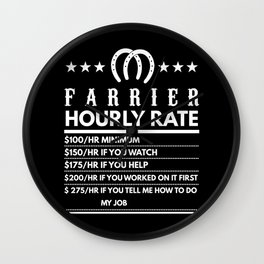 Farrier Funny Hourly Rate Wall Clock