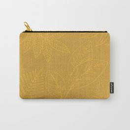 Pale golden leaves on golden background Carry-All Pouch