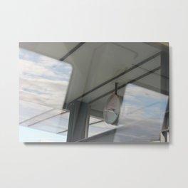 Copenhagen Metro reflection Metal Print