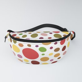 Abstract dot art on white background Fanny Pack