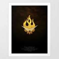 Gurren Lagann Movie Poster Art Print