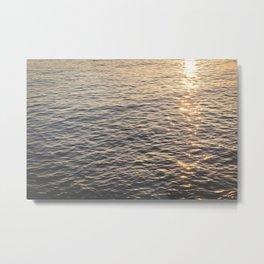 Sunlit Sparkling Ocean Metal Print