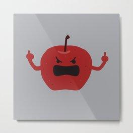 Ultra Angry Apple Metal Print