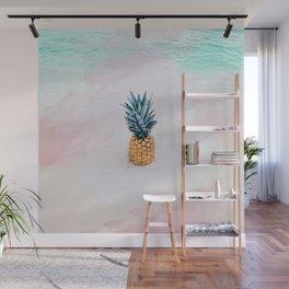 Pineapple on the beach Wall Mural