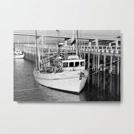San Remo Boats Black and White Metal Print