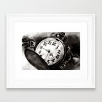 watch Framed Art Prints featuring Watch by Brittany Smith