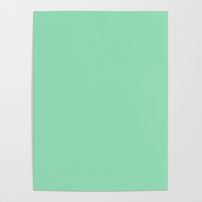 Pastel Sea Green Color Poster