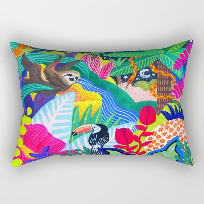 Jungle Party Animals Rectangular Pillow