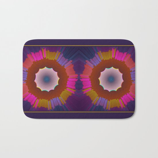 Colourful prismatic abstract Bath Mat