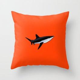 Bright Fluorescent Shark Attack Orange Neon Throw Pillow