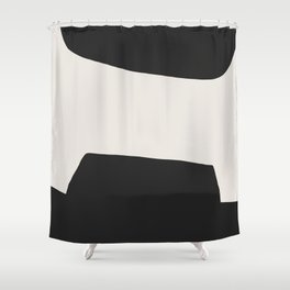 Moon Crater Shower Curtain