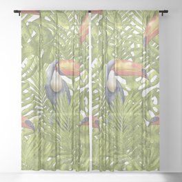Toucan Sheer Curtain