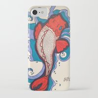 koi fish iPhone & iPod Cases featuring Koi Fish by Hannah Brownfield Camacho