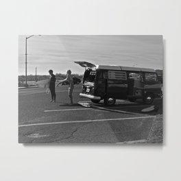 two surfers & a VW Bus Metal Print
